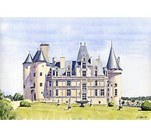 Château at La Rochefoucauld, France Photographic Print