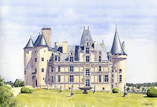 Château at La Rochefoucauld, France by ian osborne