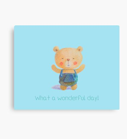 What a wonderful day! Canvas Print