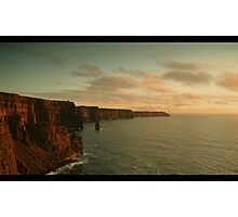 Cliffs of Moher at sunset Photographic Print
