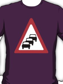 Traffic Queues Likley Sign T-Shirt