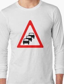 Traffic Queues Likley Sign Long Sleeve T-Shirt