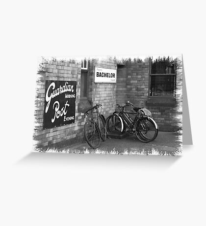 Bicycles B&W Greeting Card