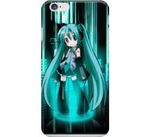 Hastume Miku Chibi+equalizer iPhone Case/Skin