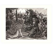 War Dog Art Print