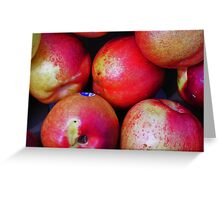Delicious Nectarines Greeting Card