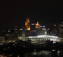 Paul Brown Stadium Night - Cincinnati, Ohio by Brandon Batie
