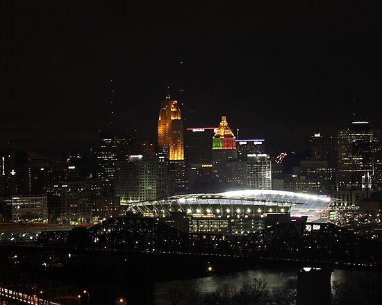 Paul Brown Stadium Night - Cincinnati, Ohio by Brandon Batie