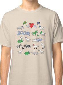 Unicorn and Friends Awesome Pattern Classic T-Shirt