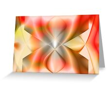 Abstract.Peach. Greeting Card
