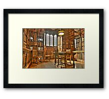 """Quiet Please in the Library"" Framed Print"