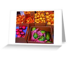 Produce in Chinatown Philadelphia Greeting Card