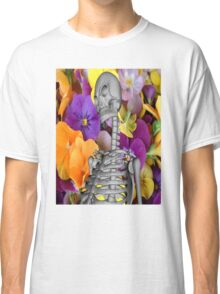 Skeleton  with Flowers Classic T-Shirt