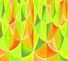 Citrus Geometric Pattern by shaneisadragon