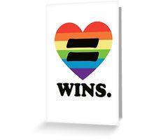Love Wins. Greeting Card
