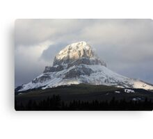 Snow on the Crowsnest Mountain Canvas Print