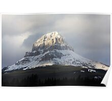 Snow on the Crowsnest Mountain Poster