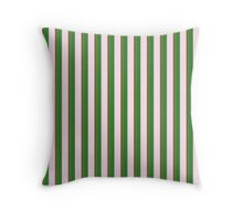 Pink Roses in Anzures 2 Stripes 2V Throw Pillow