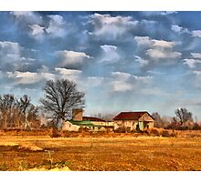 Abandon Barn Scene Photographic Print