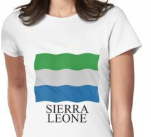 Sierra Leone flag Womens Fitted T-Shirt