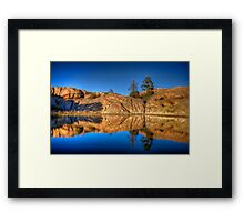 Twice the Rocks Framed Print
