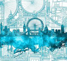 london city skyline2 by BekimART
