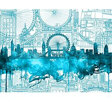 london city skyline2 Photographic Print