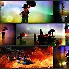 Lego Batman Collection Collage by Darlene Lankford Honeycutt