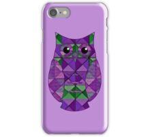 Lilac & Leaf Geometric Owl iPhone Case/Skin