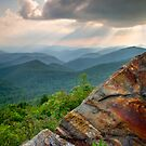 Sunbeams Over Blue Ridge Parkway - Rays and Rust by Dave Allen