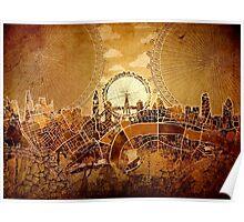 london city skyline 3 Poster