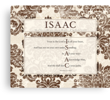 Isaac in the Word Canvas Print
