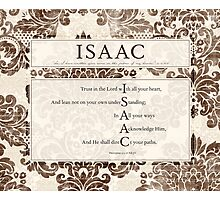 Isaac in the Word Photographic Print
