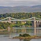 A popular view of the Menai Bridge, Anglesey by keighley