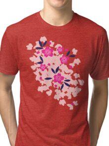 Cherry Blossom - Purple Tri-blend T-Shirt