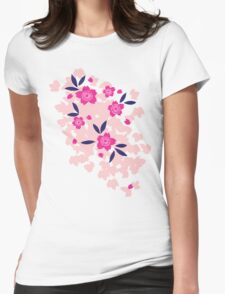 Cherry Blossom - Purple Womens Fitted T-Shirt