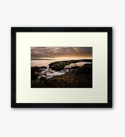Golden Flows Framed Print