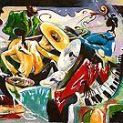 "Jazz no. 3 - The Unforgettable ""French Quarter""  by Elisabeta Hermann"