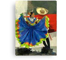 Mexican Dancers - Elegance and Magic Canvas Print