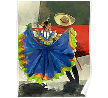 Mexican Dancers - Elegance and Magic Poster