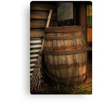 Old Barrel and Broom ~ Monte Cristo Canvas Print