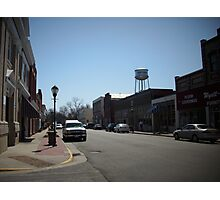 Main Street Small Town Photographic Print