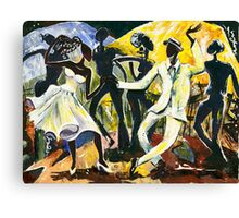 Dancers No. 1 - Saturday Nights Out Canvas Print