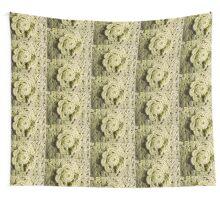Green Crochet Flower Wall Tapestry