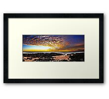 Rocky Point Panorama Framed Print