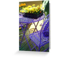 Purple Seating Greeting Card