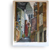 Rue St. Rustique à Montmartre Canvas Print