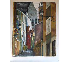 Rue St. Rustique à Montmartre Photographic Print