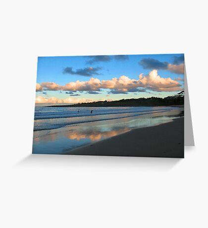 Dusk Swim Beneath the Clouds Greeting Card