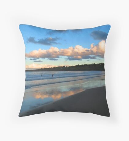 Dusk Swim Beneath the Clouds Throw Pillow